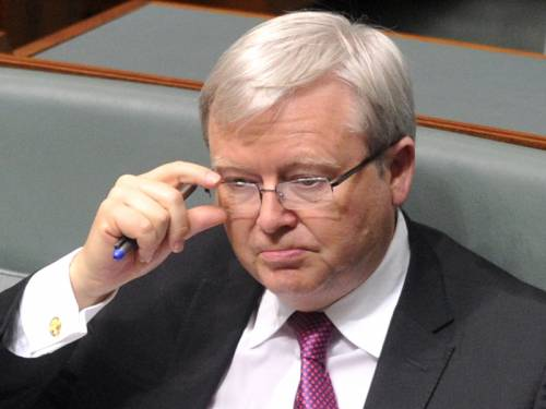 Former PM Kevin Rudd (Pic) says he has no recollection of being told about the Ben Zygier case. (AAP)